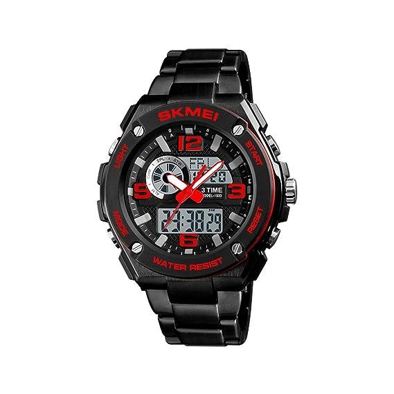 LONGQI Reloj digital multifunción para deportes al aire libre, calendario, calendario, pantalla (