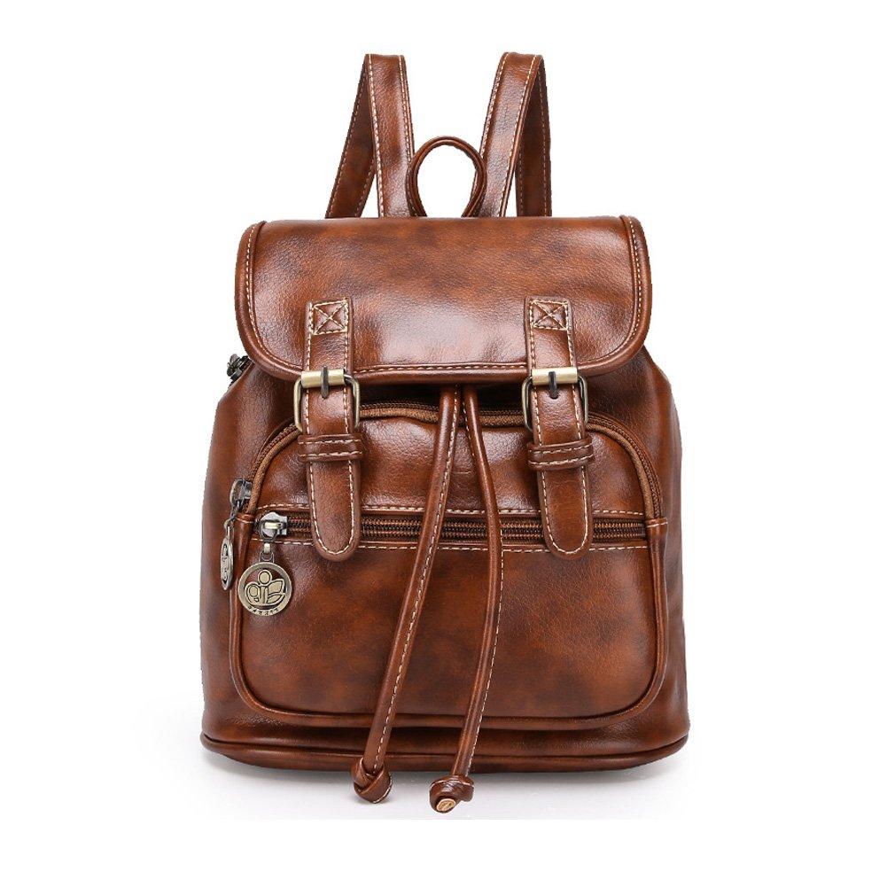 Catkit Vintage Preppy Style Womens School Shoulder Bag Tote Handbag Bookbag Backpack Brown