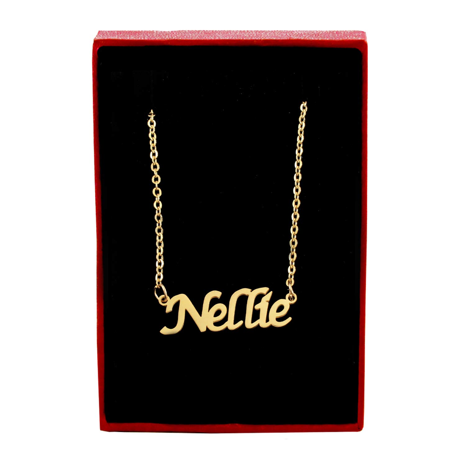 Zacria Nellie Name Necklace 18ct Gold Plated