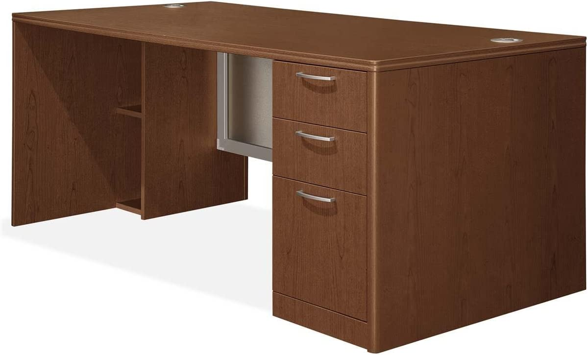 HON Right Single Pedestal Desk, 72 by 36 by 29-1 2-Inch, Shaker Cherry