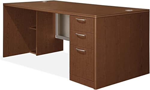HON Right Single Pedestal Desk - a good cheap home office desk