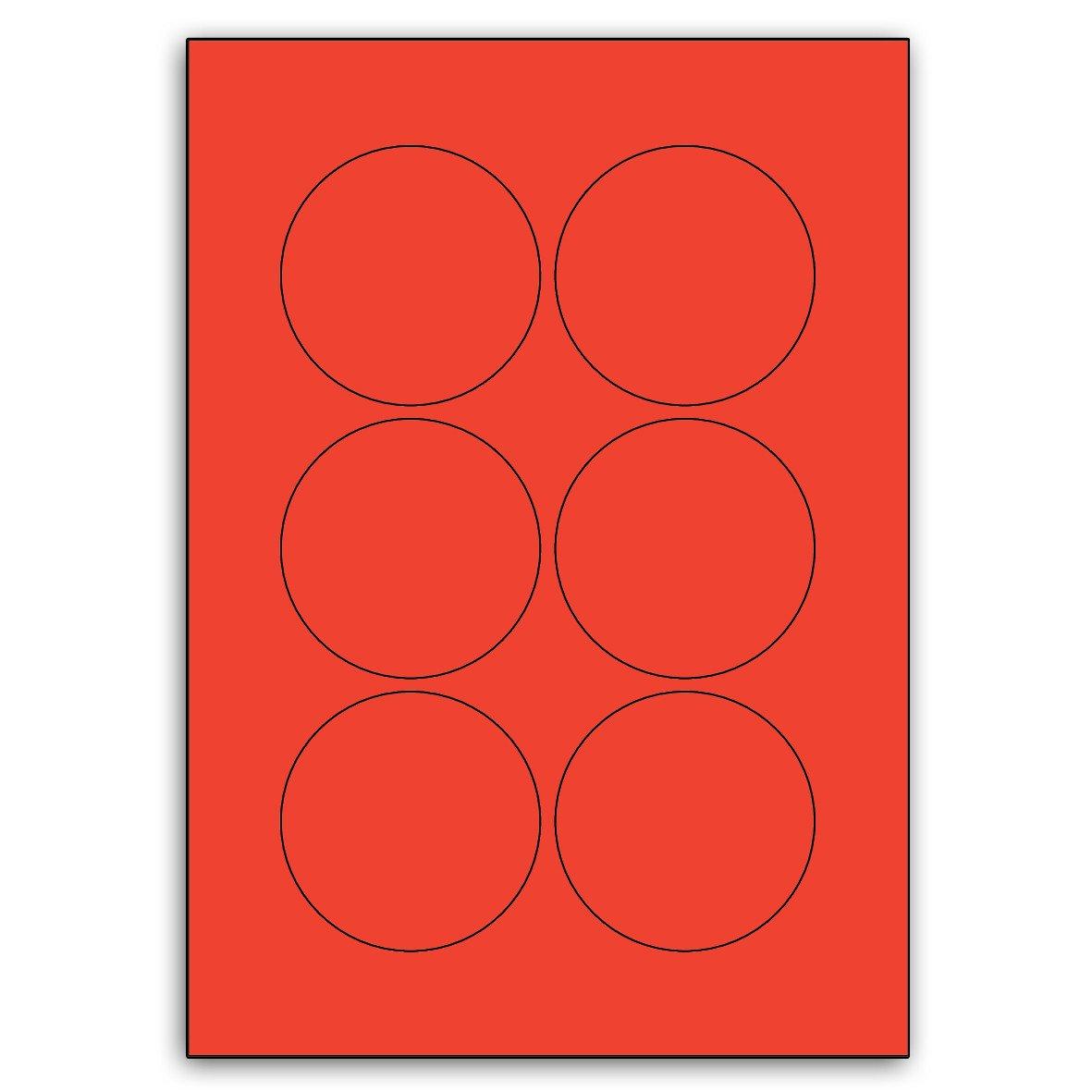 Multi Purpose rot Round Labels (73mm Diameter) - 6 Labels Labels Labels Per Sheet - 100 Sheets B00BXE69YI      München  7a5d67