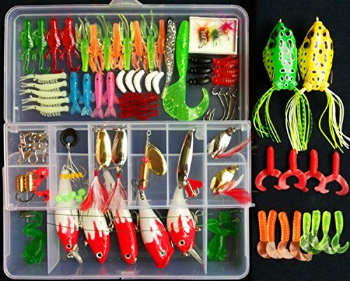 Freshwater Bait - Fishing Lure Set Kit,LifeVC Soft And Hard Lure Baits Tackle Set Saltwater Freshwater Trout Bass Salmon With Tackle Box