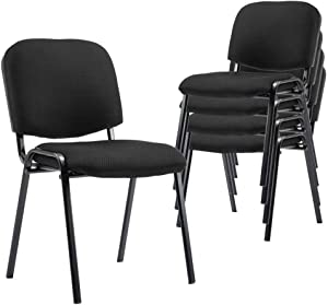 Comfort Conference Chairs, 5 Pack Stackable Reception Chairs DM Furniture Guest Chairs for Conference Rooms, Events, Churches, Office, Reception Area, Hotel, Hall, Community Centers, Home, Set of 5