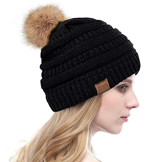 ZOORON Women Winter Knit Slouchy Beanie 8b0277c474b