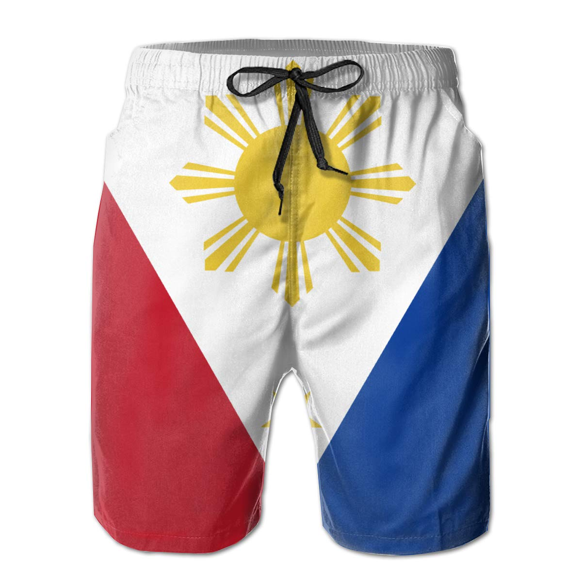 HZamora/_H Mens Flag of The Philippines Summer Breathable Quick-Drying Swim Trunks Beach Shorts Cargo Shorts