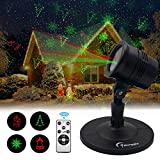 Christmas Laser Lights Outdoor Projector - Marggle Laser Red & Green Lights Combine with Wireless Remote Control, for Christmas Holiday and Garden Show Decoration