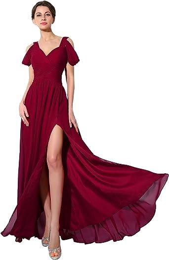 Sarahbridal Vestidos De Baile De Gasa Largos 2019 Con Cuentas Para Dama De Honor Clothing
