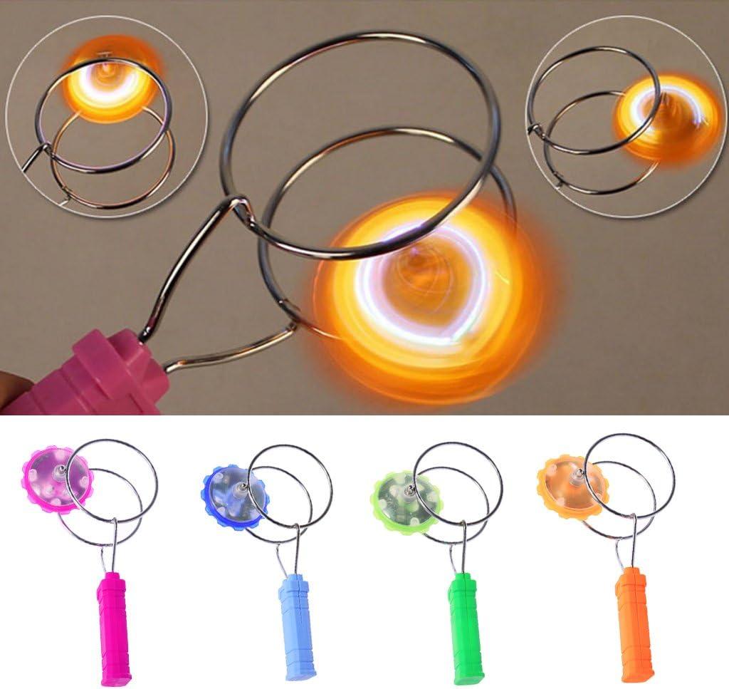 Ocobudbxw LED Luz Colorida Gyro YoYo Rueda magn/ética Magic Spinning Toys