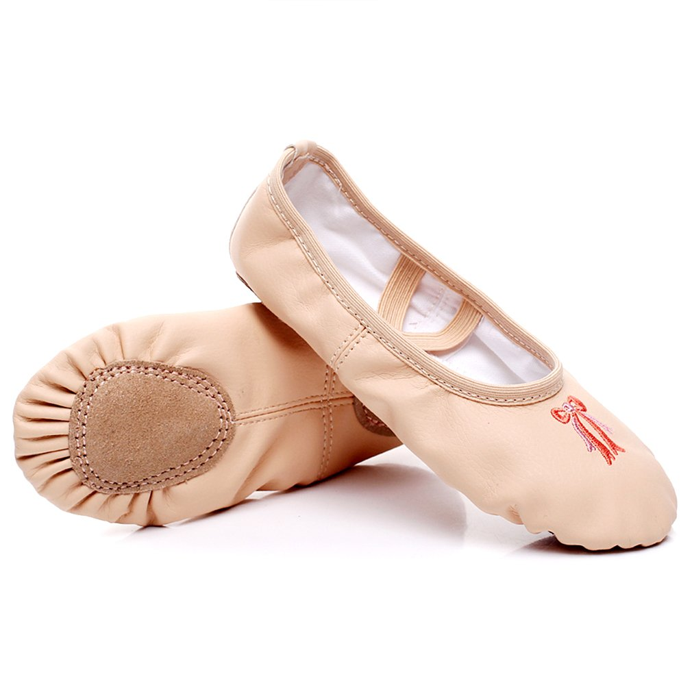 WELOVE Girls Canvas Ballet Shoes/Ballet Slipper/Dance Shoe/Yoga Shoes Split Sole Flats