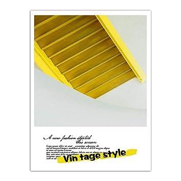 XINGMUZSH Pintura Decorativa Escalera Arte Moderno De La Pared Inyección De Tinta De Alta Definición Adecuada para Sala De Estar Dormitorio Oficina Sin ...