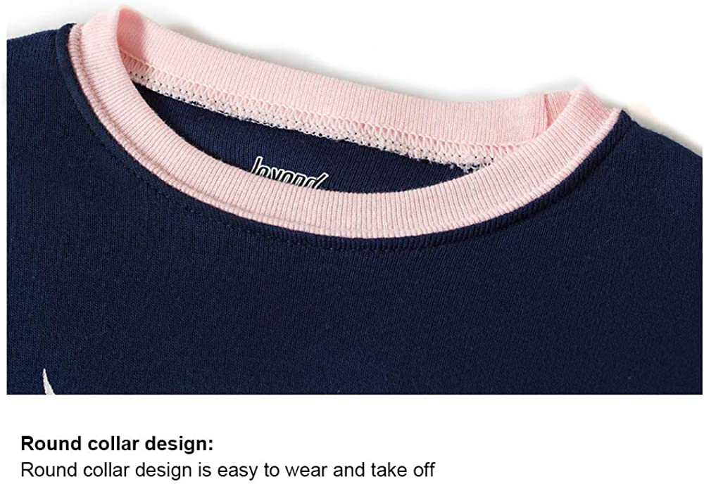 Joyond Girls Snug Fit Cotton Long Sleeve Pajamas Set Size 2-8
