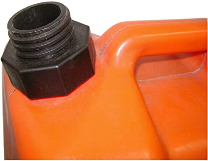 Coarse Thread Automotive EZ-Pour Gas Caps Can Solid Base Replacement Tank
