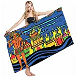 Wondertify Bath Towels Psychedelic Ethnic Spiritual Faith Prince Eastern Tribal Ancient Oriental Bohemian Soft Machine Washable Beach Towels Lightweight Fast Drying Towel 32 X 64 Inches
