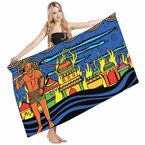 Wondertify Bath Towels Psychedelic Ethnic Spiritual Faith Prince Eastern Tribal Ancient Oriental Bohemian Soft Machine Washable Beach Towels Lightweight Fast Drying Towel 32 X 64 Inches by Wondertify