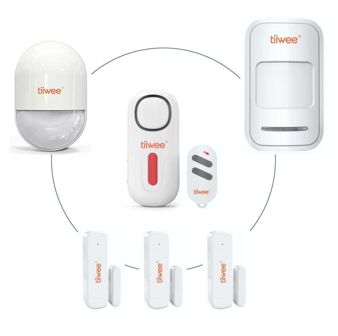 tiiwee Control Remoto TWRC02 Tiiwee para el Sistema de Alarma de Hogar - Sistema de Alarma hogareño Anti-ladrón inalámbrico - Seguridad en el hogar
