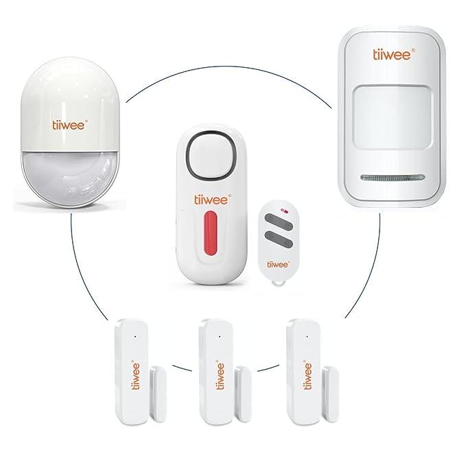 tiiwee Sensor de Movimiento PIR TWPIR02 para el Sistema de Alarma de Hogar - Sistema de Alarma de casa antibloqueo inalámbrico - Seguridad en el hogar: ...
