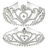 Best Tiaras For Weddings - SUMERSHA 2 Pack Wedding Tiara Rhinestones Crystal Bridal Review