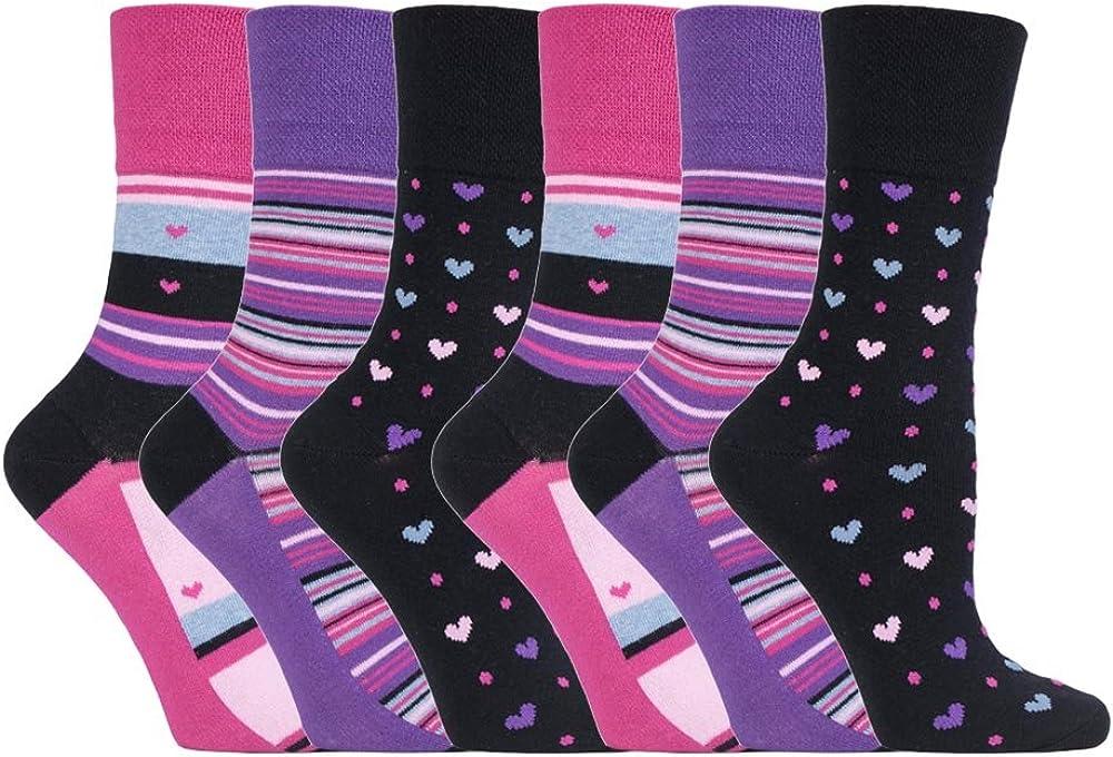 6 Paia Pianura Ladies Delicata Grip A Nido Dape Calzini Alti 6 Colori