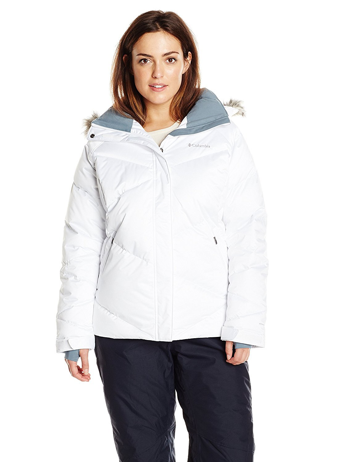 Columbia Women's Plus Lay D Down Jacket White 2X [並行輸入品] B075CJPKPZ