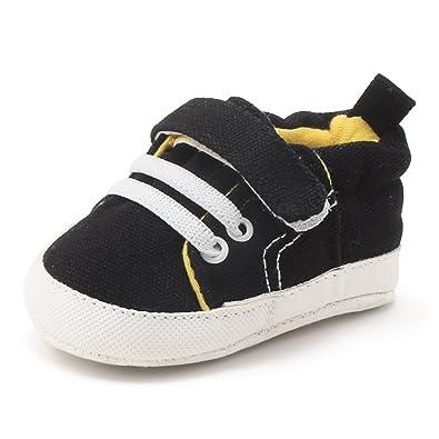 nuovo prodotto 20726 88a08 DELEBAO Scarpe Neonato Calzature per Bambini Scarpe da Ginnastica Bambina  Suola Morbida Scarpe Tela Bambina Ragazzi e Ragazza