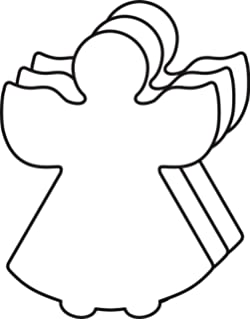 Amazoncom 10 Pc 4 Inch Wide Wood Angel Wing Cut Out Shapes