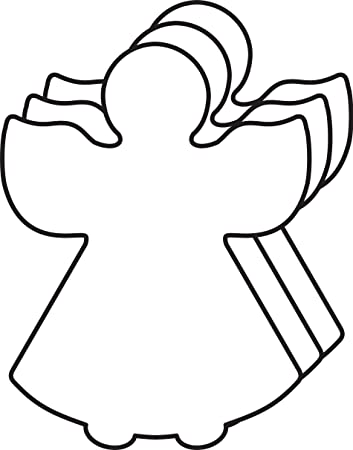 Amazon.com : Angel Small Single Color Creative Cut-Out : Office ...