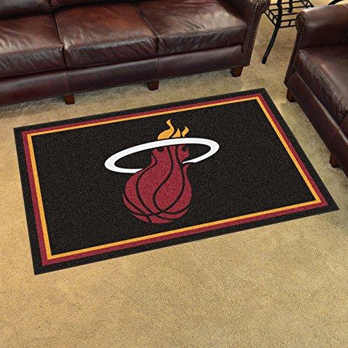 Fan Mats 20433 NBA - Miami Heat 4' x 6' Area Rug