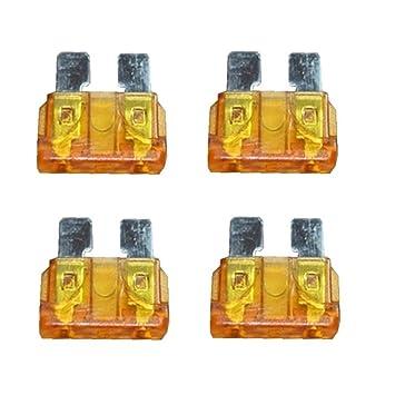 10 Stück KFZ-Sicherung 5 A Hellbraun 10 A Rot Flachsicherung Stecksicherung