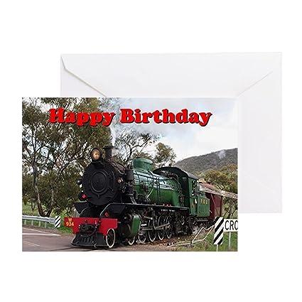 Amazon com : CafePress - Happy Birthday: Steam Train Engine