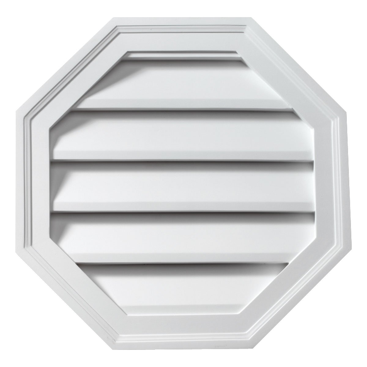 Fypon FOLV24 24'' W x 24'' H Octagon Functional Louver