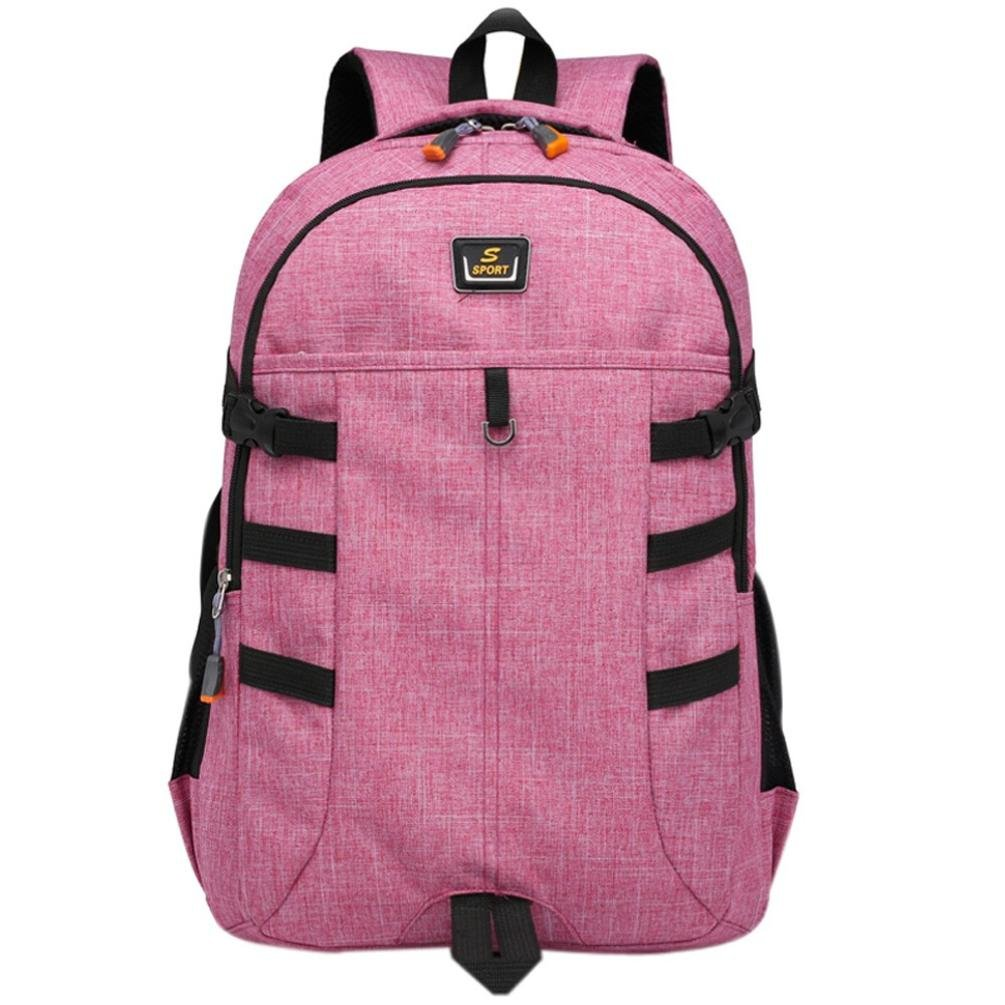 Aobiny Backpack Men And Women Use a Backpack With Large Shoulder Capacity for Traveling Students (Pink)