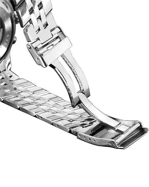 Amazon.com: Jaragar Mens Tourbillon Chrongraph Stainless Steel Hand wind Mechanical Watch: Watches