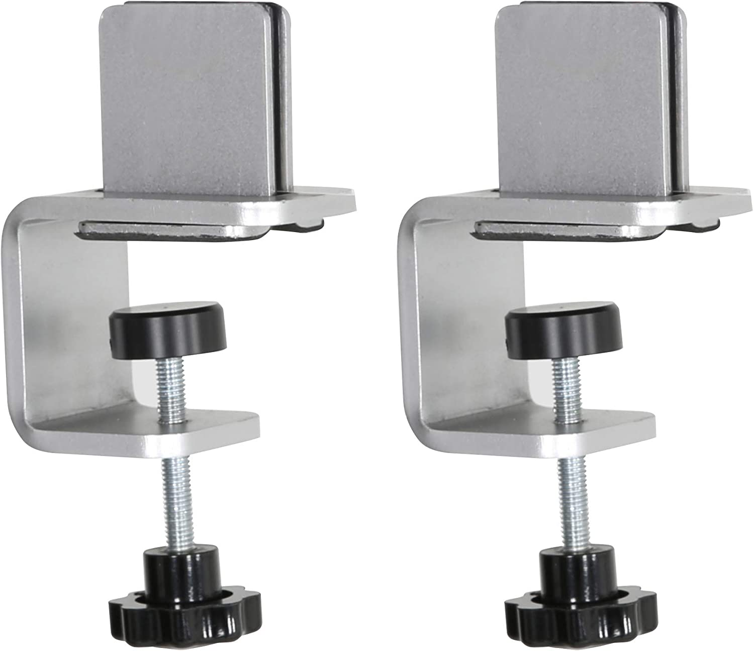 M&T Displays Mid Section Clamp Kit, C-Clamp for Table Panel Separator, Desktop Mount Holder Stand (2 pack)
