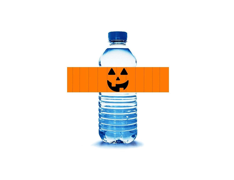 10 Halloween Jack o lanternhalf wrap water bottle labels stickers tags