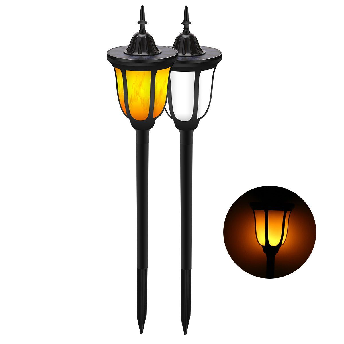 ALOVECO Solar Torch Lights, Waterproof Flickering Flames Torches Lights Outdoor Solar Spotlights Landscape Decoration Lighting Dusk to Dawn Auto On/Off Security Torch Light for Patio Driveway by ALOVECO