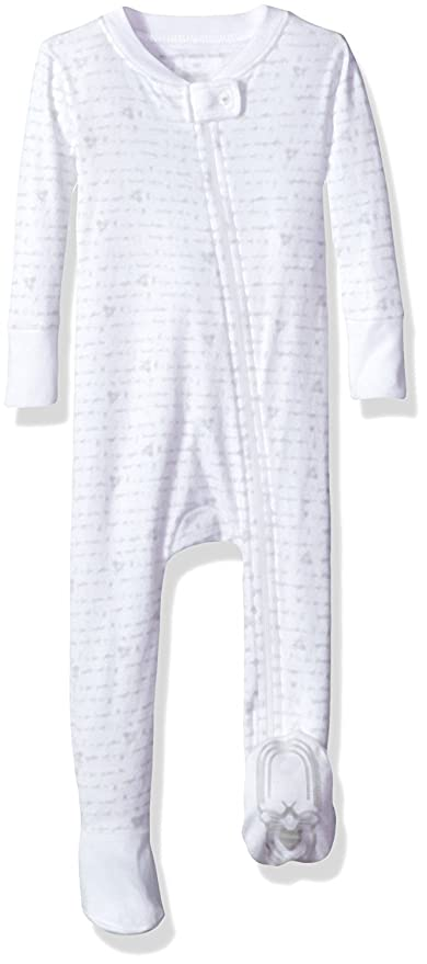 Amazon.com: Burts Bees Baby Baby Organic Zip Front Non-Slip Footed Sleeper Pajamas: Clothing