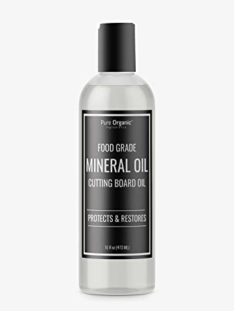 Pure Organic Ingredients Mineral Oil, Food Grade, USP Grade, For Cutting  Boards,