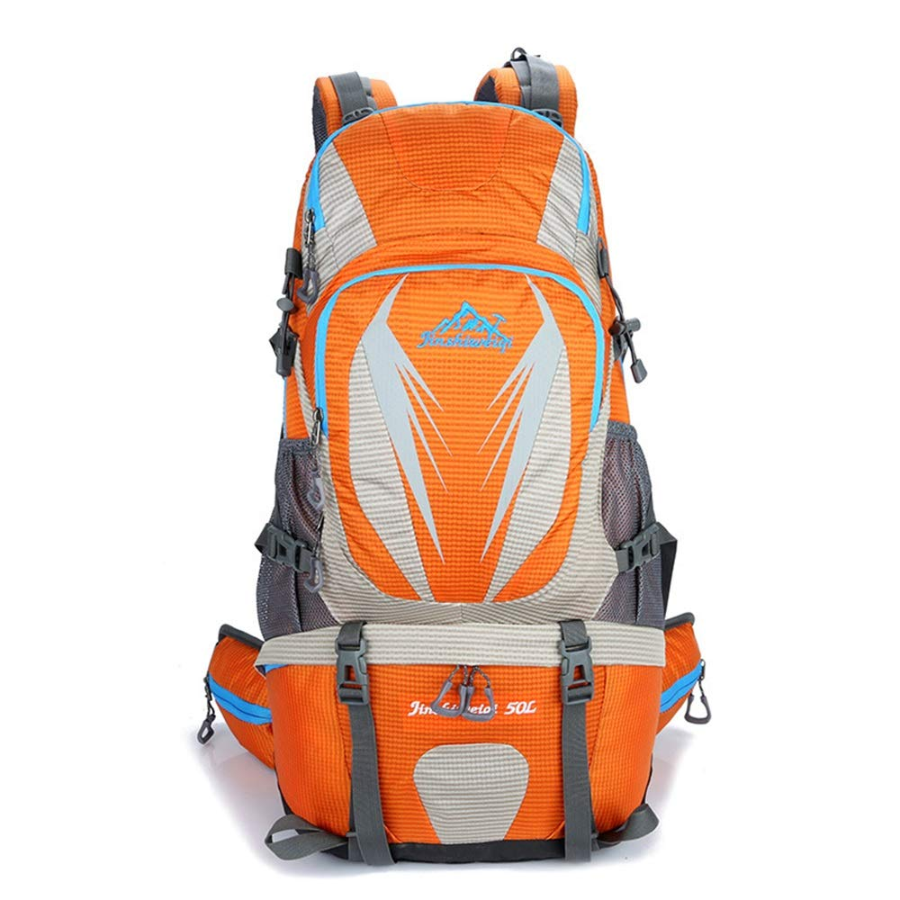 Orange Taille unique HLW Sportssac Sac à Dos de randonnée 50L Voyage Sac à Dos Trekking Randonnée Alpinisme Escalade Camping Sac à Dos pour Hommes Femmes Sacs à Dos de Trekking pour Hommes, Femmes