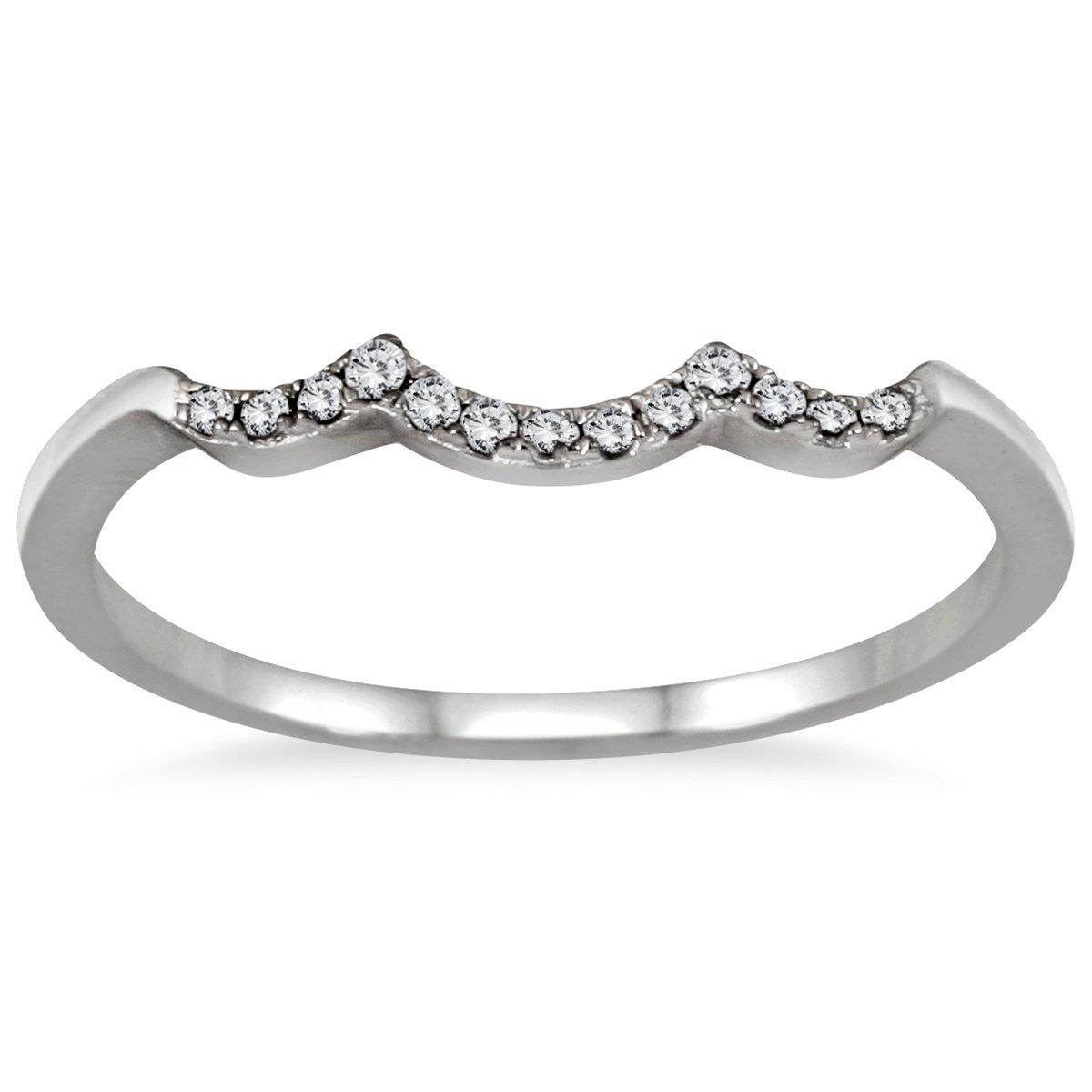 1//2 Carat TW Three Stone Diamond Cluster Bridal Set in 10K White Gold