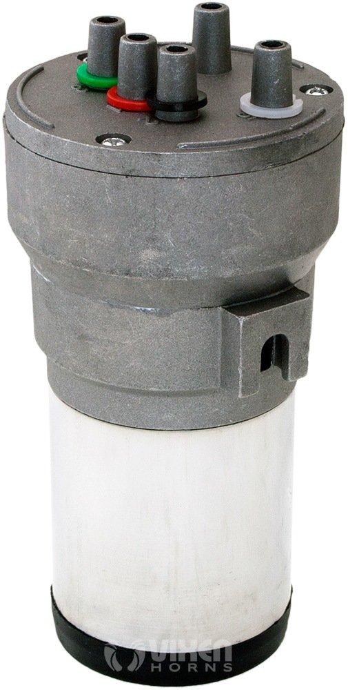 Vixen Horns Loud 125dB 5//Five Trumpet La Cucaracha Musical//Music Sound Air Horn with Compressor Full Complete System//Kit Red 12V VXH6803R