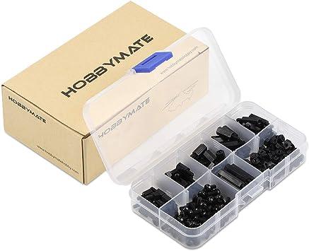 HOBBYMATE M3 - Tornillos separadores de nailon para FPV Drone Quadcopter Building, PC PCB placa base Standoffs: Amazon.es: Bricolaje y herramientas