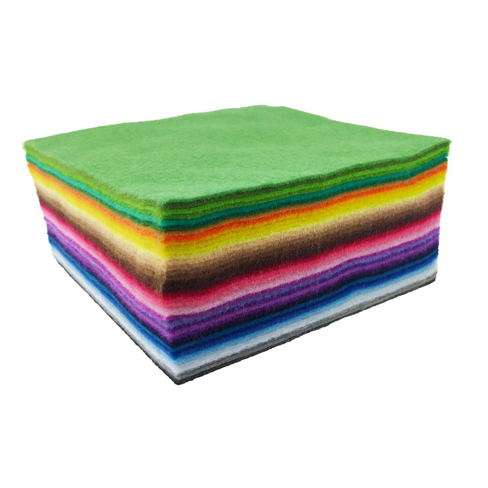 flic-flac 42pcs1.4mm Thick Soft Felt Fabric Sheet Assorted Color Felt Pack DIY Craft Sewing Squares Nonwoven Patchwork (30cm 30cm) by flic-flac (Image #4)