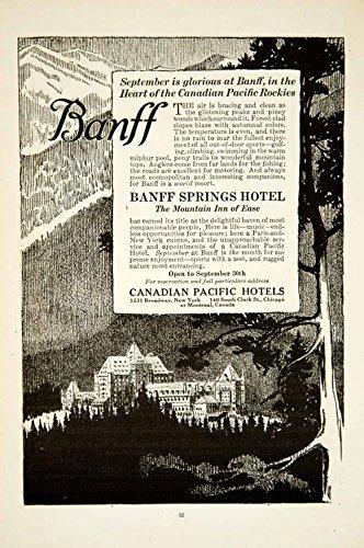 1919 Ad Banff Springs Hotel Resort Canadian Pacific Railway National Park Ysc1   Original Print Ad