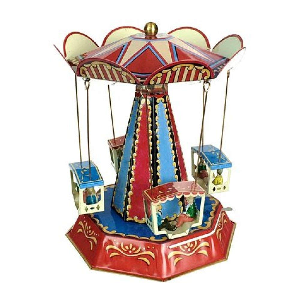 TinToyArcade Beautiful Baroque Carousel Germany Tin Toy