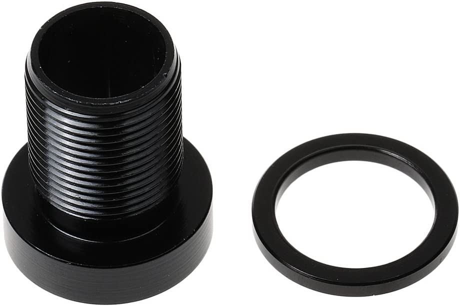perfeclan Schwarz Kurbelschraube aus Aluminium M15