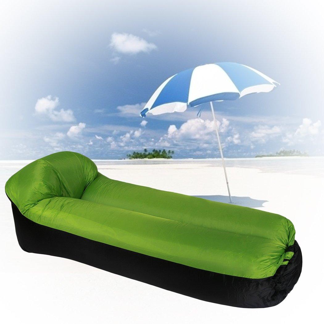 Fansport Sofá de Camping Sofá de Viaje Ocioso Portátil Portátil Ocioso Inflable Plegable del Aire del Sofá del Aire para Al Aire Libre adef91