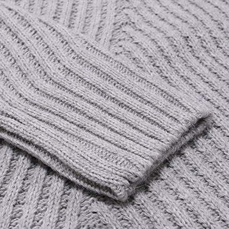 U/A Herbst Winter Męskie Pullover Męskie Rollkragen Solid Color Casual Sweater Männer Slim Fit Pullover Männer Kleidung: Küche & Haushalt