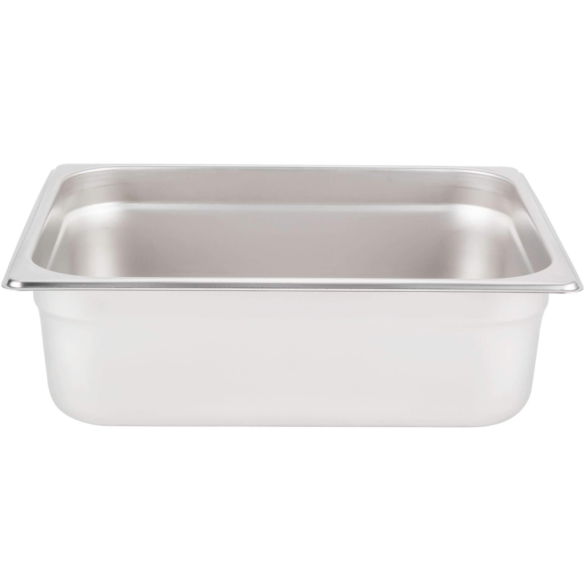TableTop King 1/2 Size Standard Weight Anti-Jam Stainless Steel Steam Table/Hotel Pan - 4'' Deep by TableTop King