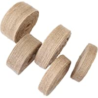 ESUPPORT 2 Rolls Natural Burlap Fabric Ribbon DIY Craft Spool Ribbons Gift Wrapping Wedding Event Party and Home Decor…